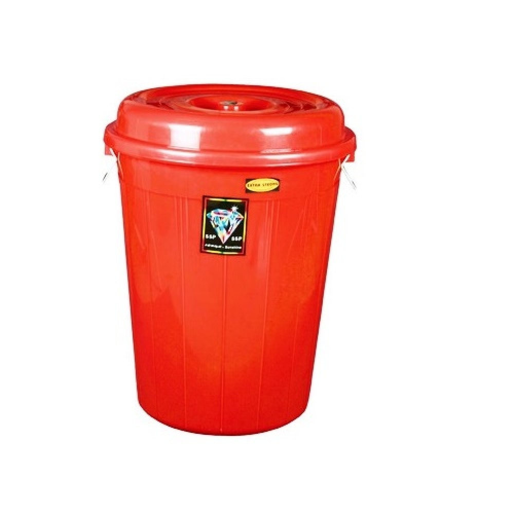 Dust Bin Round-Plastic  With Lid (60 Litre)