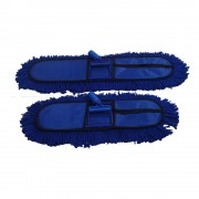 """Dry Mop/ Dust Control Mop  Set 18""""X5"""" With 5' Handle"""