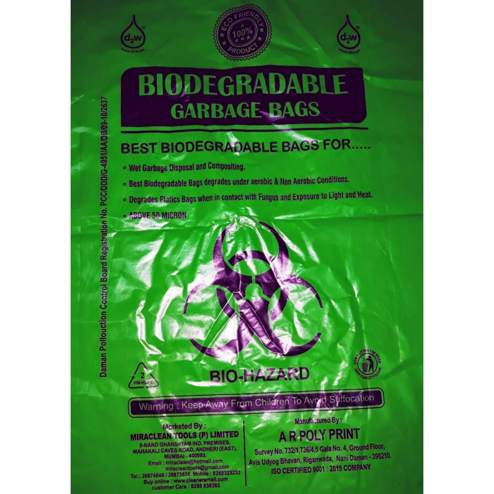 Bio Degradable Garbage Bags 19X21 inches (30 Bags)