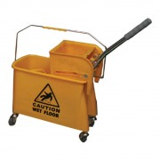 Wringer Trolley Mop Bucket Single/ CHINA (20 Ltrs)
